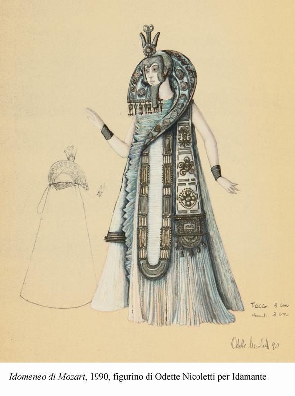 3-Idomeneo di Mozart, 1990, figurino di Nicoletti per Idamante