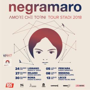 """Negramaro """"Amore che torni"""": il tour negli stadi con 6 imperdibili date e il nuovo album in uscita il 17 novembre."""