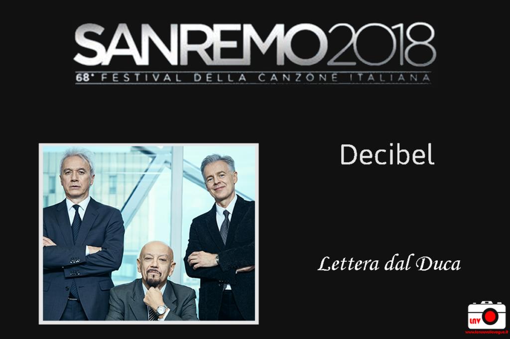Festival di Sanremo 2018 - I Campioni - Decibel